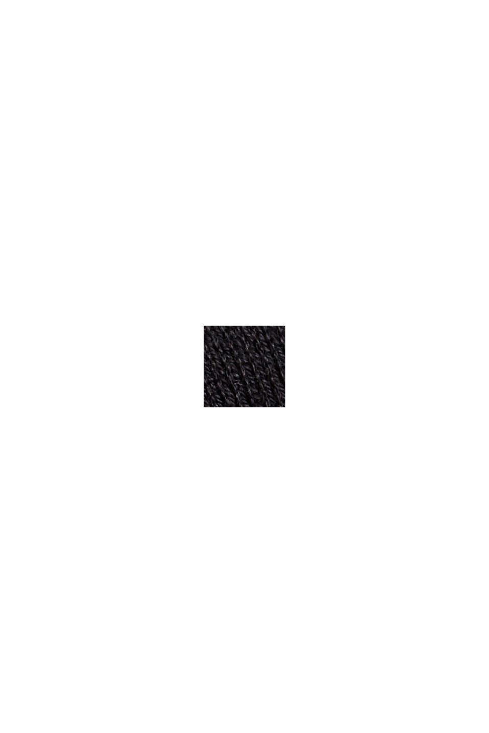 Open cardigan made of 100% organic cotton, BLACK, swatch