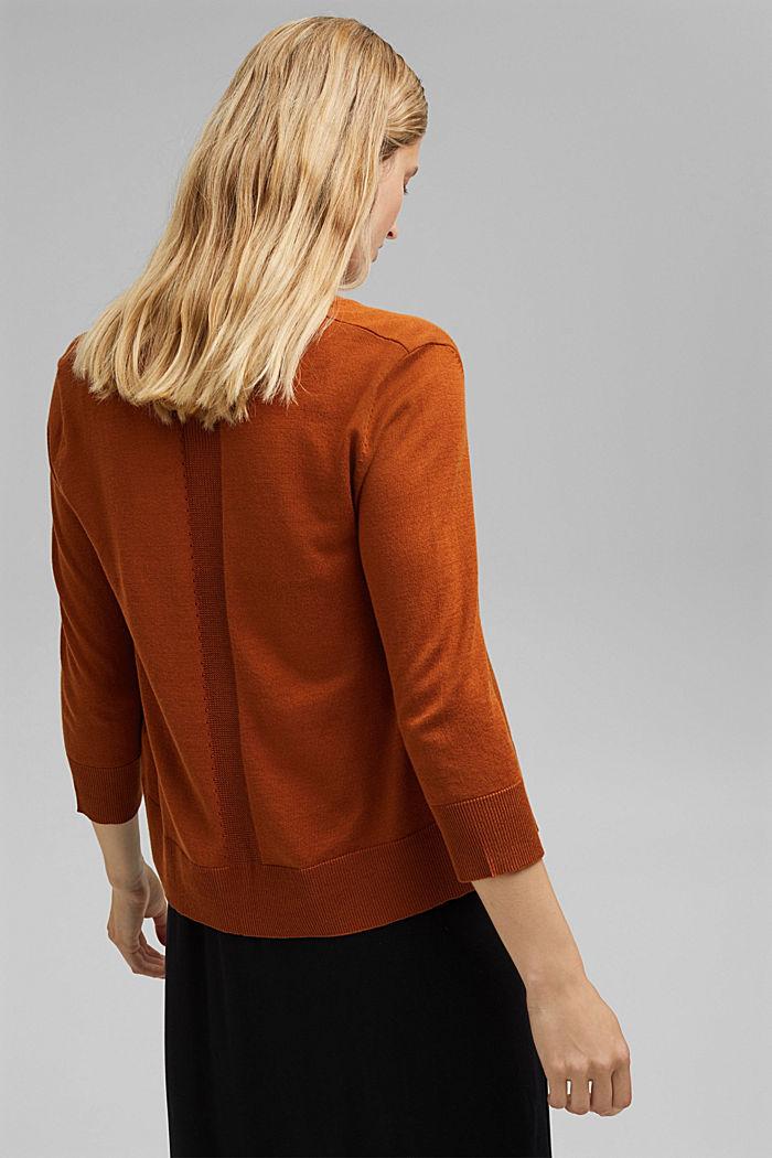 Open cardigan made of 100% organic cotton, CARAMEL, detail image number 3