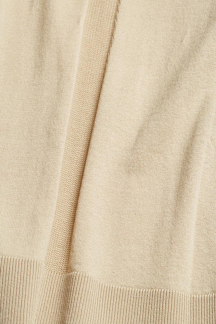 Cardigan ouvert, 100% coton biologique, SAND, detail image number 4