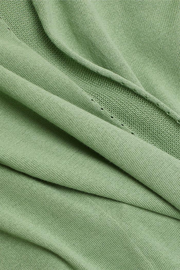 Offener Cardigan aus 100% Bio-Baumwolle, LEAF GREEN, detail image number 4