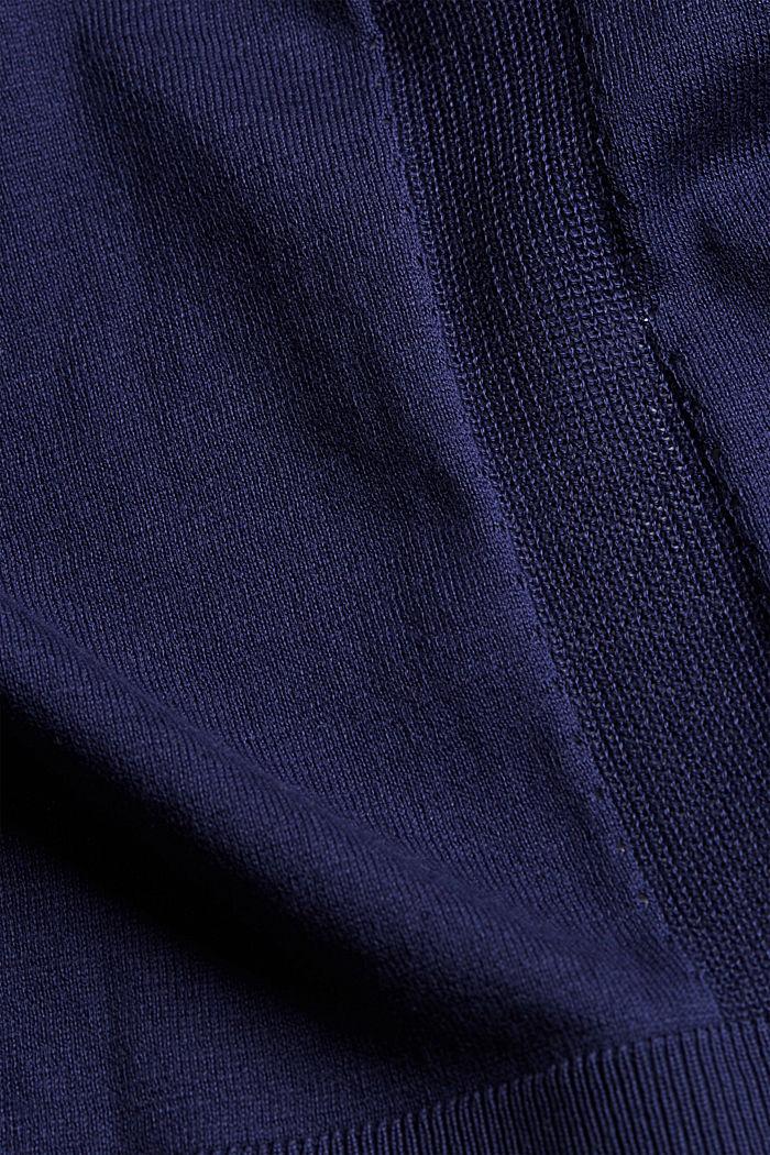 Open vest van 100% biologisch katoen, DARK BLUE, detail image number 4