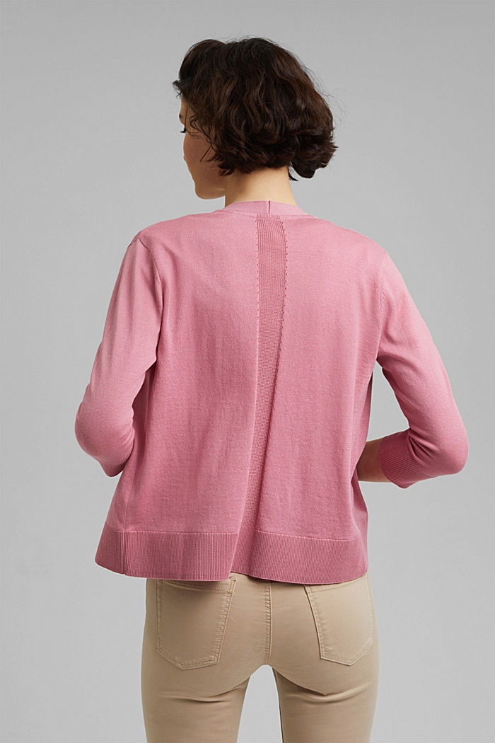 Open cardigan made of 100% organic cotton, PINK, detail image number 3