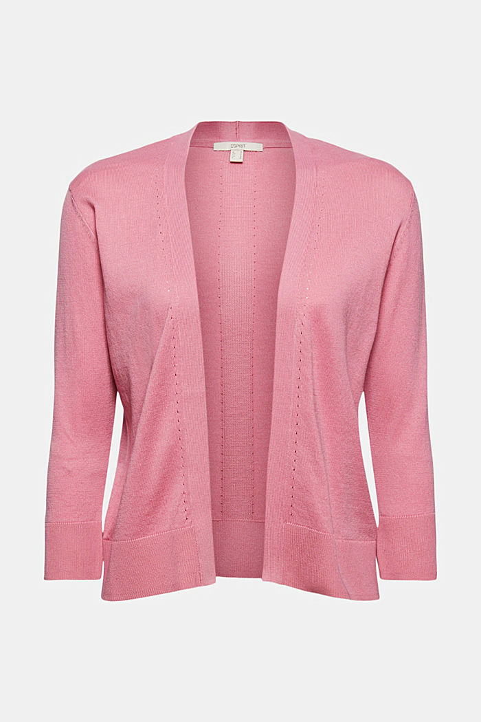 Open cardigan made of 100% organic cotton, PINK, detail image number 6
