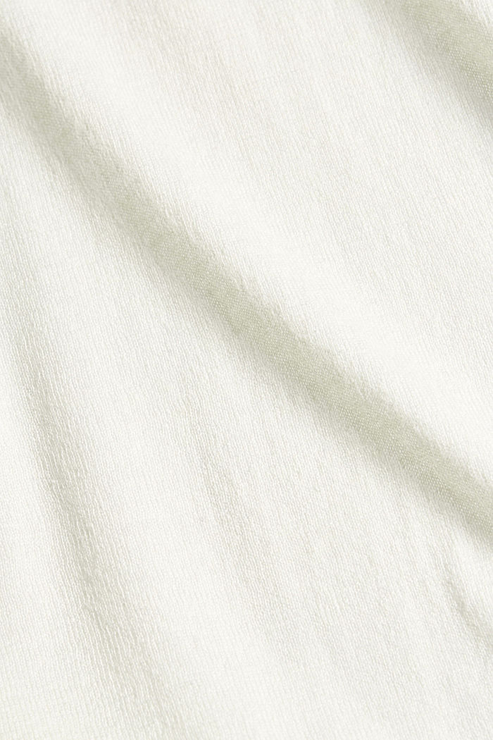 With linen: open basic cardigan, OFF WHITE, detail image number 4
