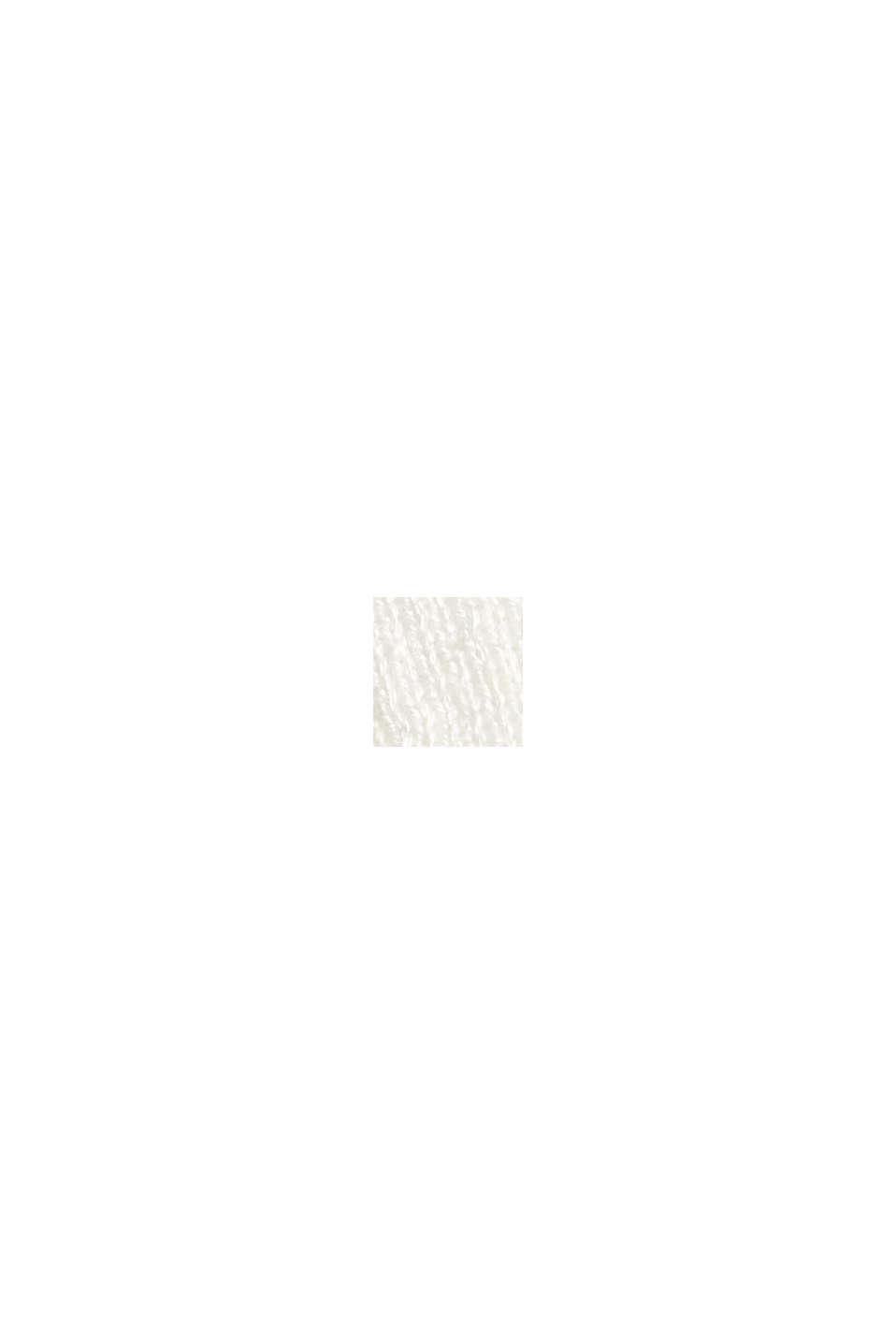 Med linne: öppen kofta i basmodell, OFF WHITE, swatch