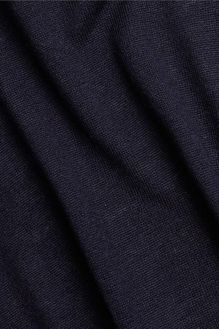 Mit Leinen: offener Basic Cardigan, NAVY, detail image number 4