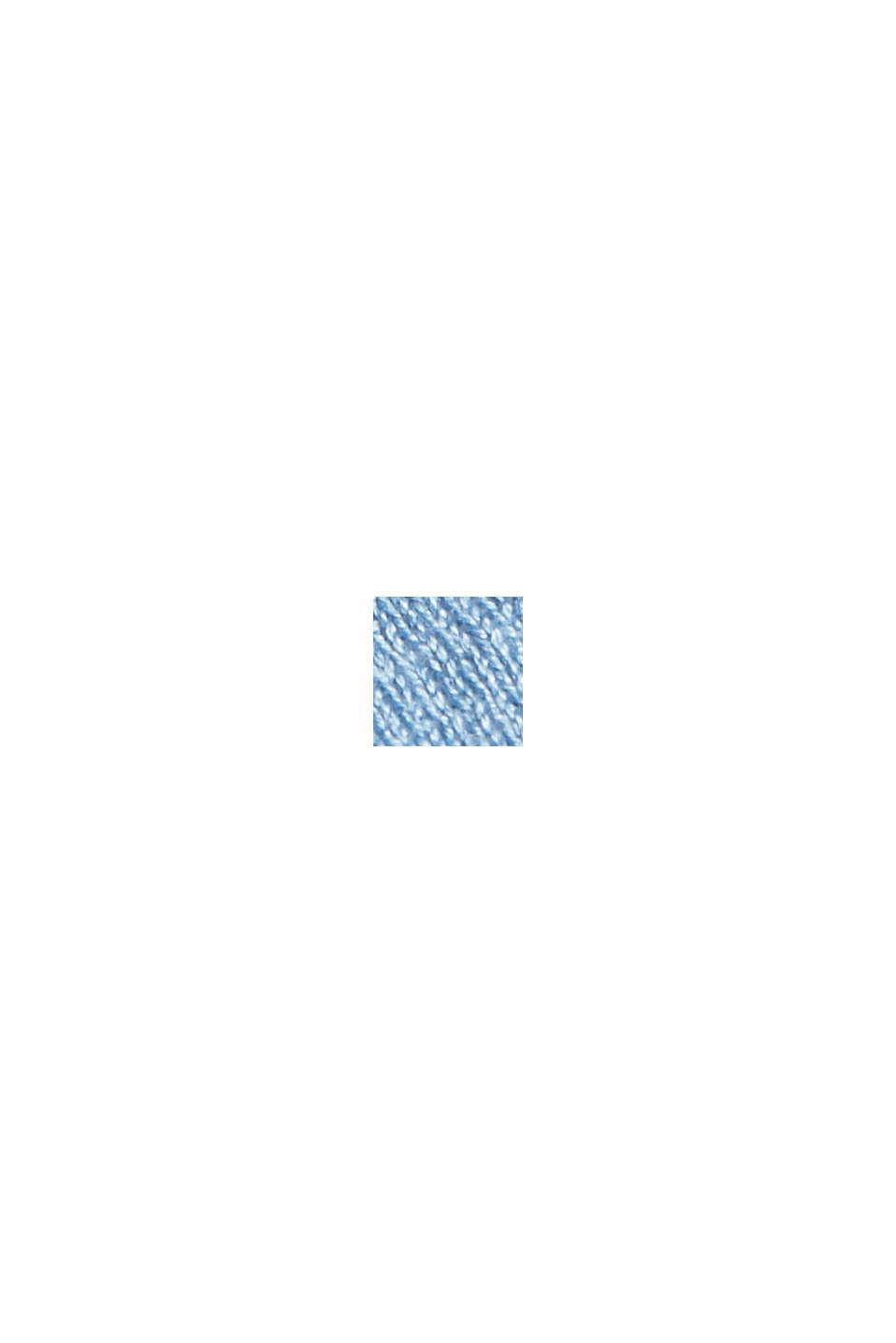 Med linne: öppen kofta i basmodell, LIGHT BLUE, swatch