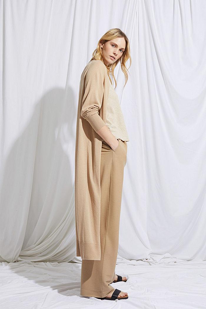 À teneur en lin: le cardigan long ouvert, SAND, detail image number 5