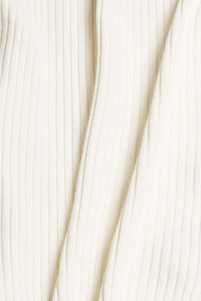 Met linnen: tanktop van ribbreisel, OFF WHITE, detail image number 4