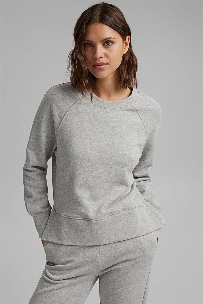 Sweatshirt mit High-Low-Saum, 100% Baumwolle, LIGHT GREY, detail image number 5