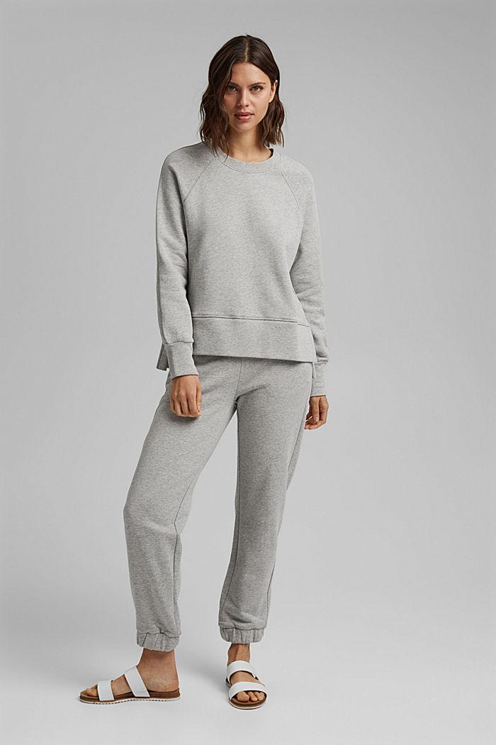 Sweatshirt mit High-Low-Saum, 100% Baumwolle, LIGHT GREY, detail image number 1