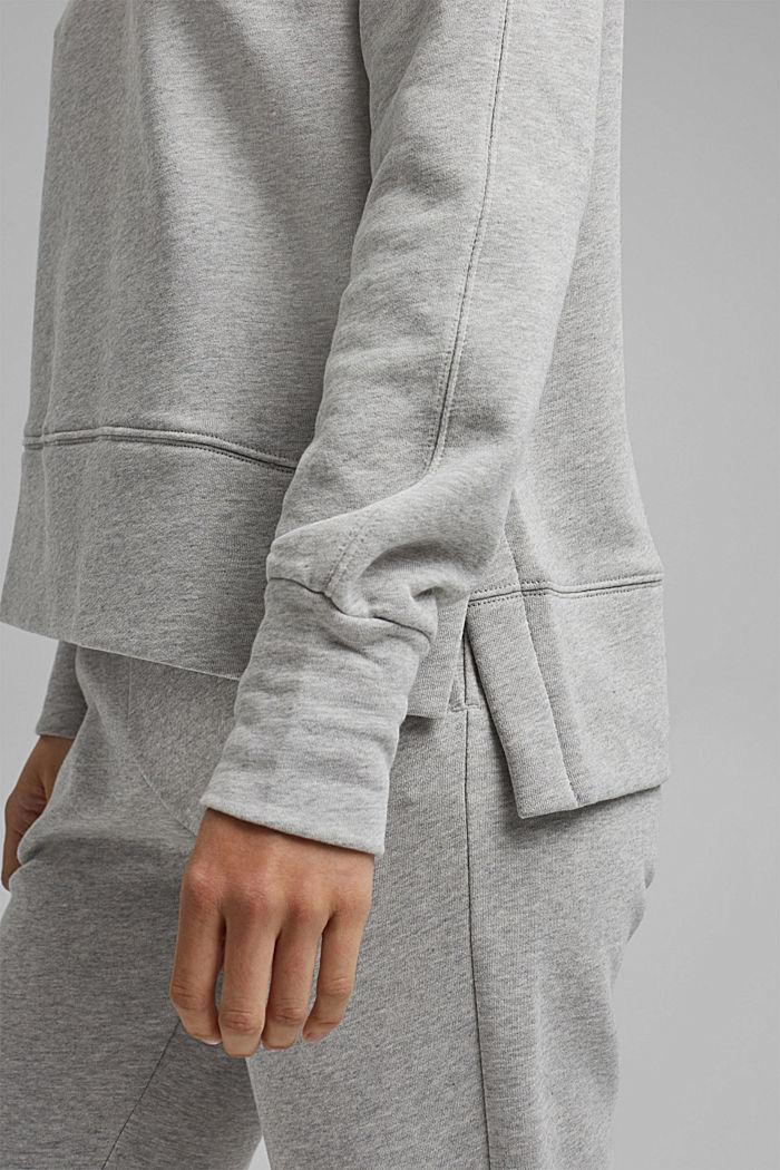 Sweatshirt mit High-Low-Saum, 100% Baumwolle, LIGHT GREY, detail image number 2