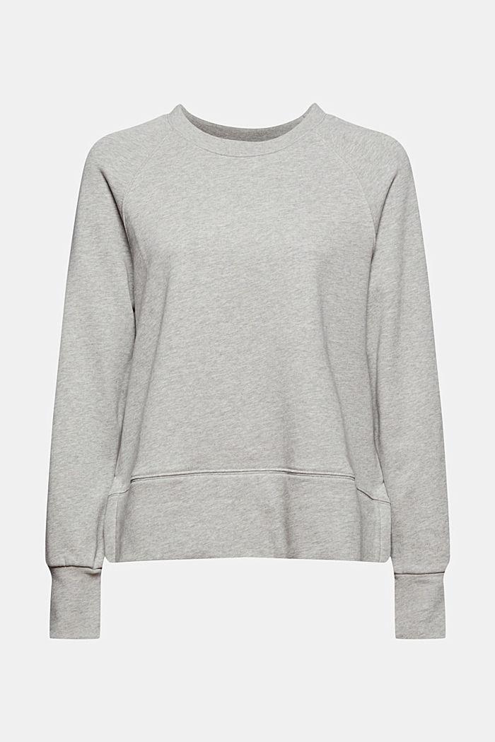 Sweatshirt med längre nederkant bak, 100% bomull