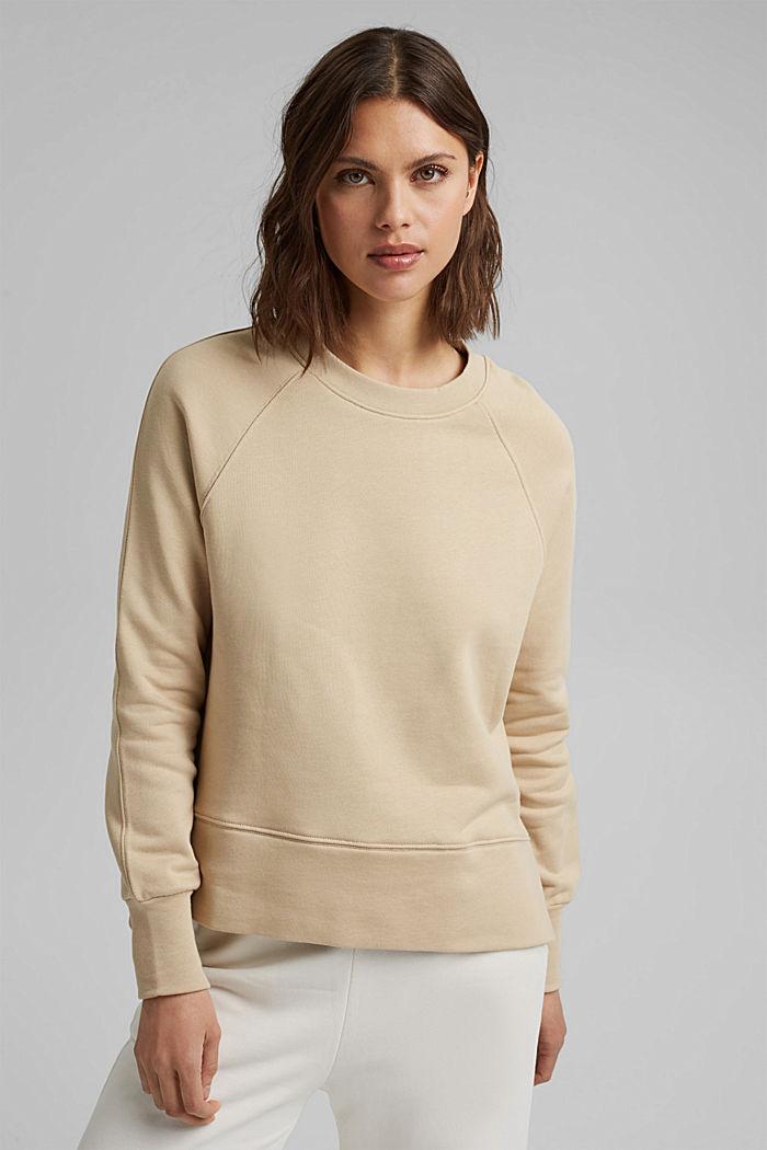 Sweat-shirt à base asymétrique, 100% coton