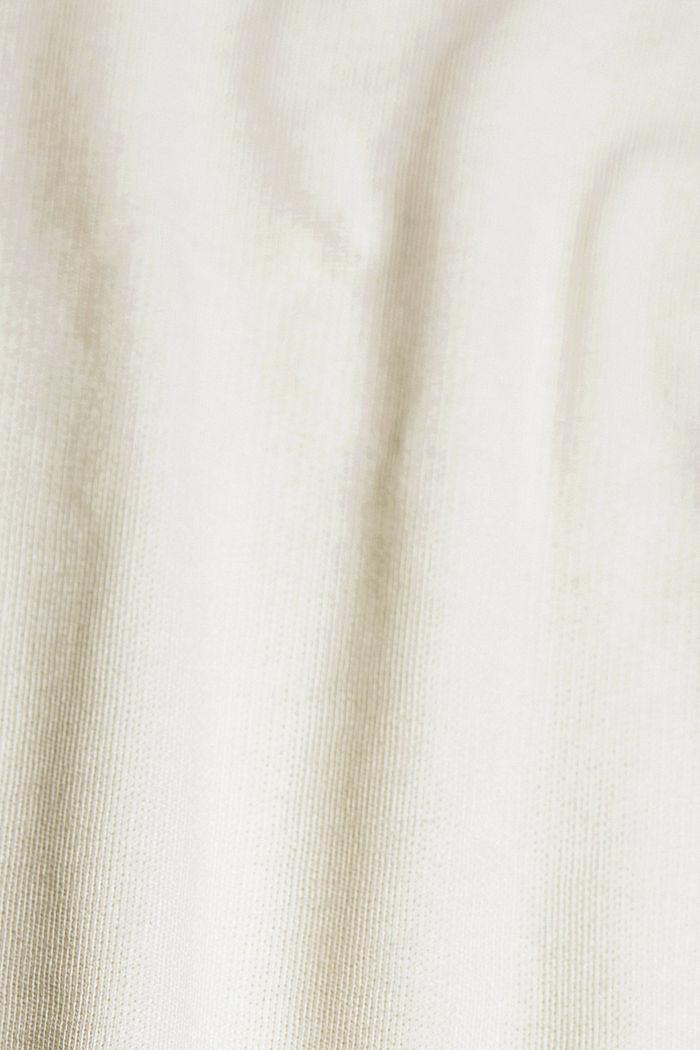 Sweatshirt mit Schlitzen, Organic Cotton, OFF WHITE, detail image number 4