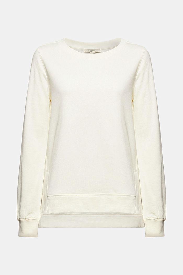 Sweatshirt mit Schlitzen, Organic Cotton, OFF WHITE, detail image number 6