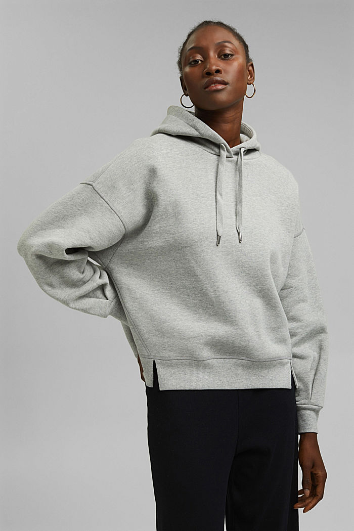 Hooded sweatshirt made of 100% cotton, LIGHT GREY, detail image number 0