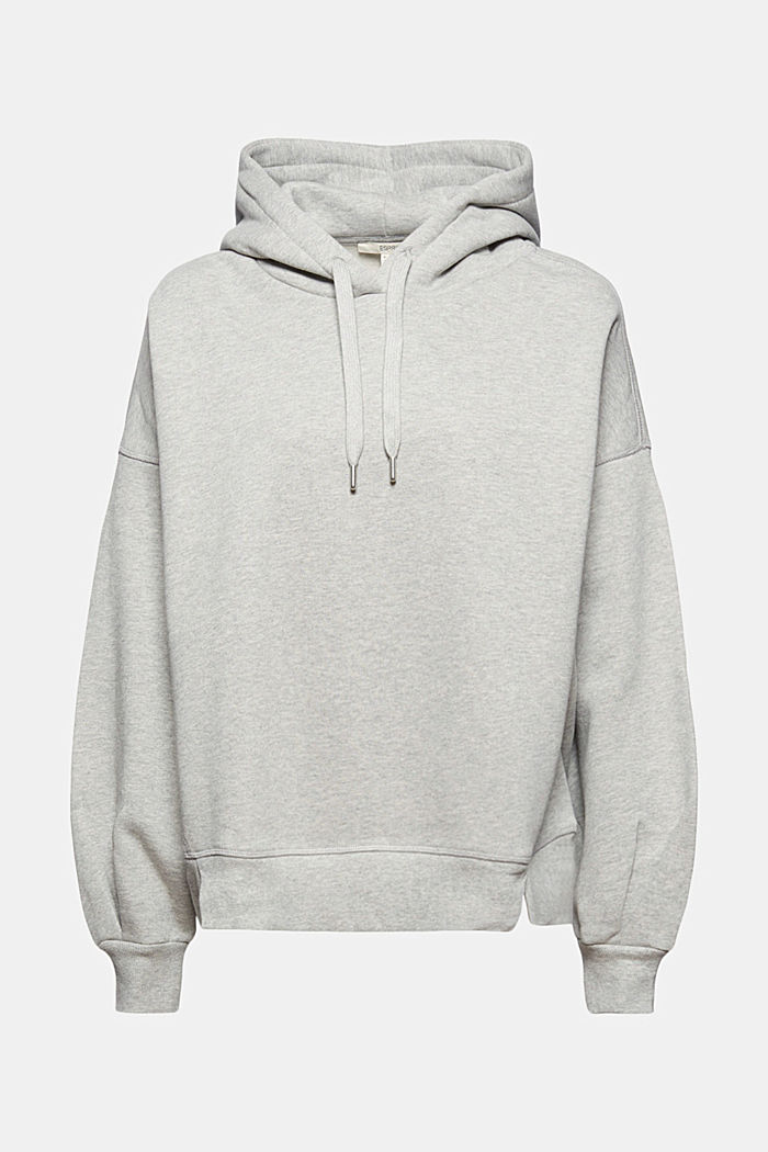 Hooded sweatshirt made of 100% cotton, LIGHT GREY, detail image number 5