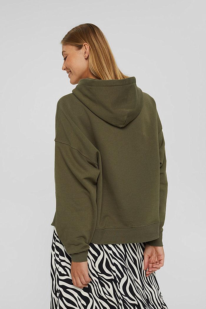 Hooded sweatshirt made of 100% cotton, DARK KHAKI, detail image number 3