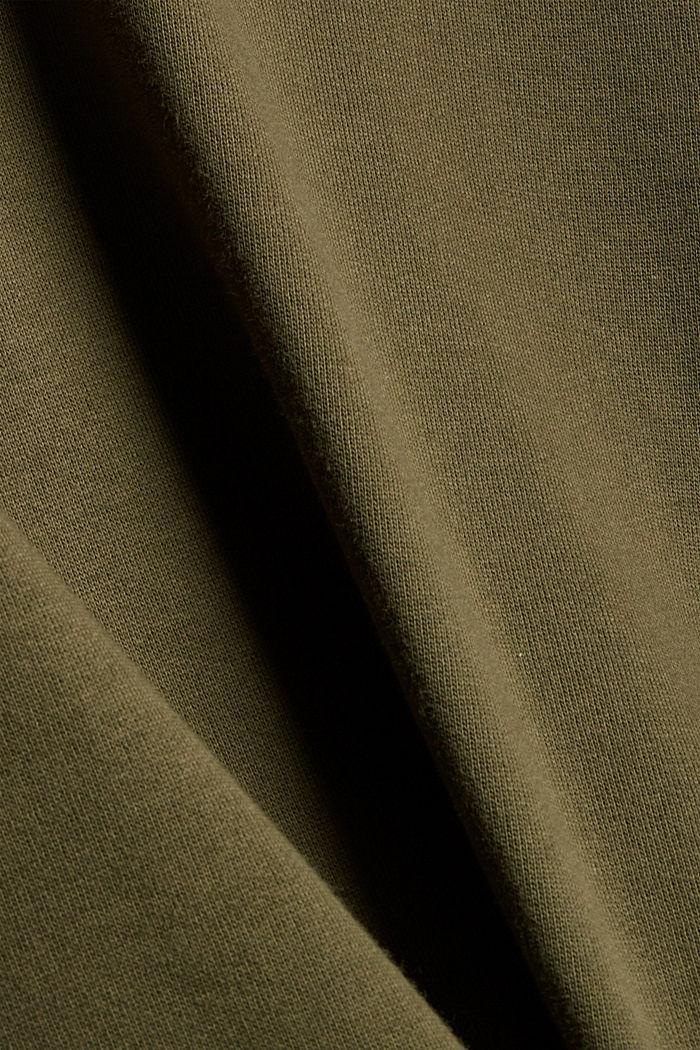 Hooded sweatshirt made of 100% cotton, DARK KHAKI, detail image number 4