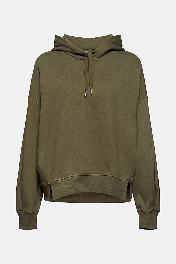 Hooded sweatshirt made of 100% cotton, DARK KHAKI, detail image number 7