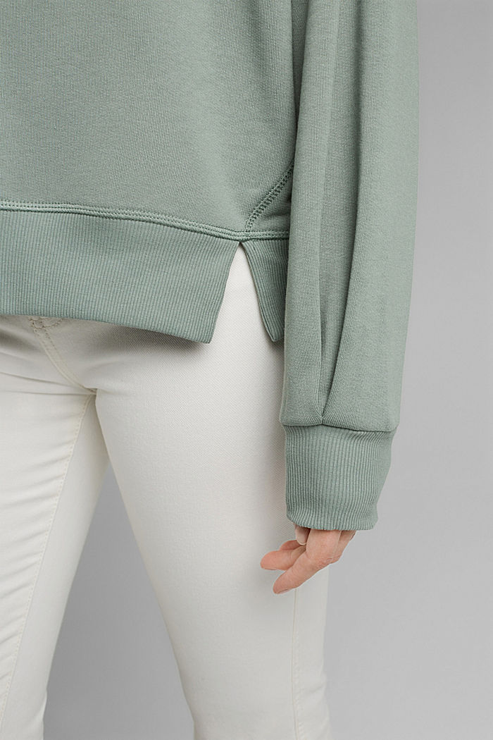 Hooded sweatshirt made of 100% cotton, TURQUOISE, detail image number 2