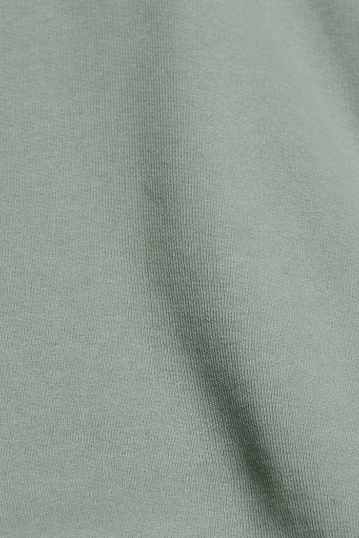 Hooded sweatshirt made of 100% cotton, TURQUOISE, detail image number 4