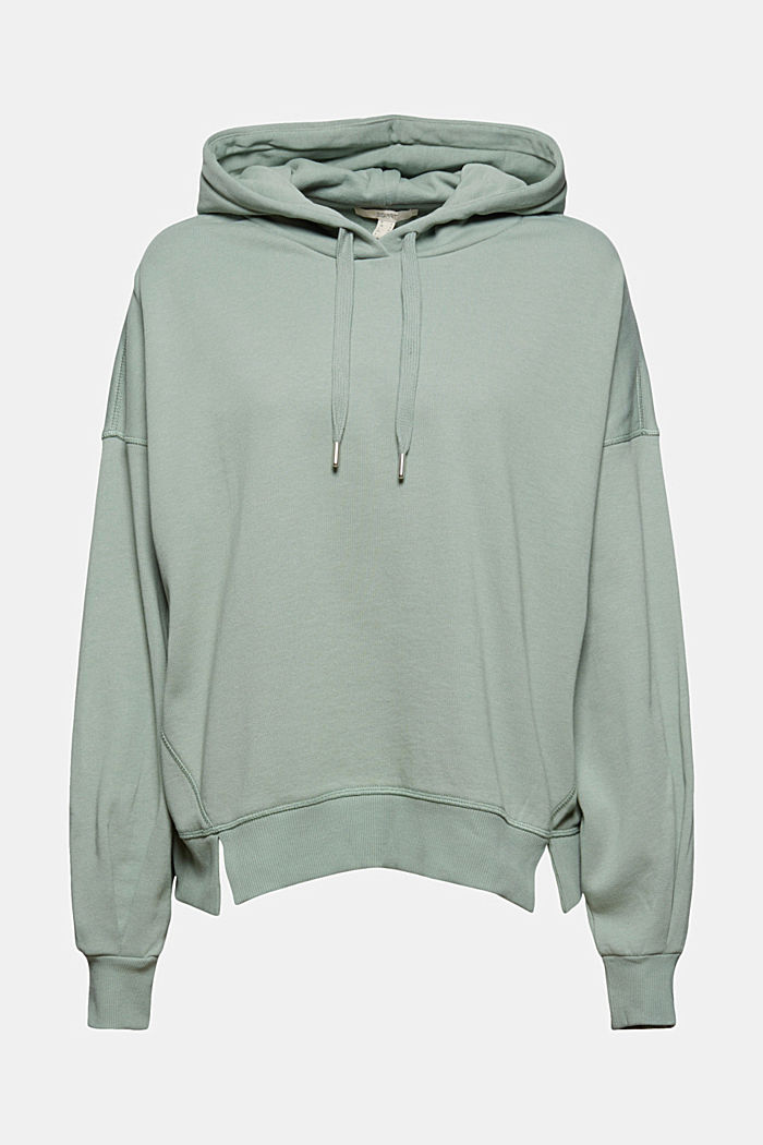 Hooded sweatshirt made of 100% cotton, TURQUOISE, detail image number 6