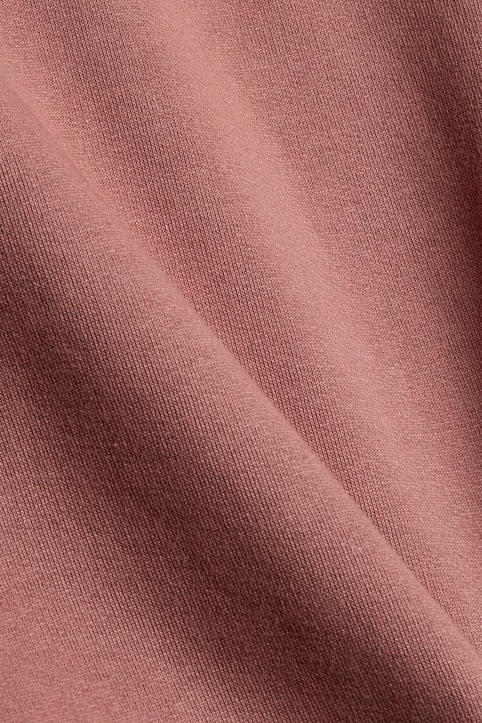 Hooded sweatshirt made of 100% cotton, DARK OLD PINK, detail image number 4