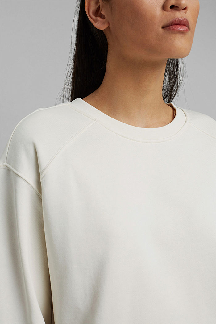Striped sweatshirt in 100% cotton, OFF WHITE, detail image number 2
