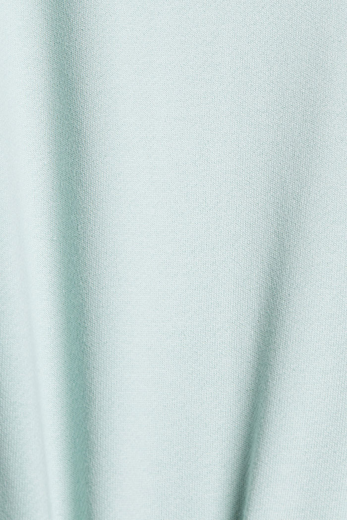Striped sweatshirt in 100% cotton, LIGHT AQUA GREEN, detail image number 4
