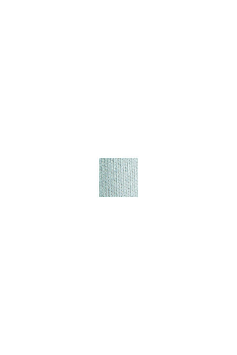 Mikina s krátkým, hranatým střihem, 100% bavlna, LIGHT AQUA GREEN, swatch