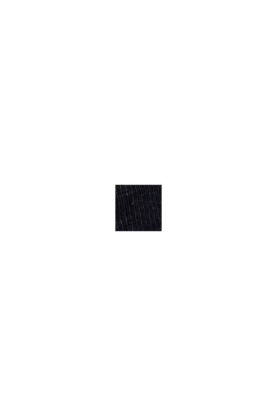 Met linnen: basic T-shirt, BLACK, swatch