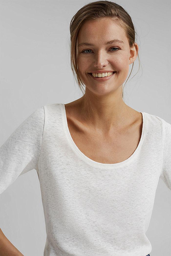 Linen blend: basic T-shirt