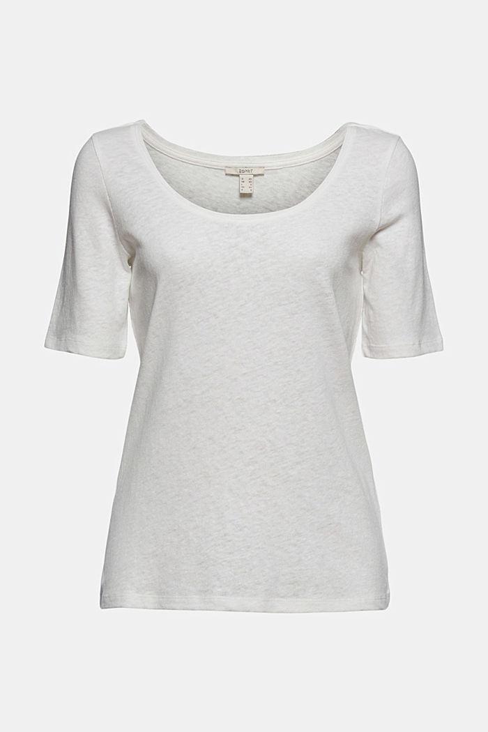 À teneur en lin: t-shirt basique