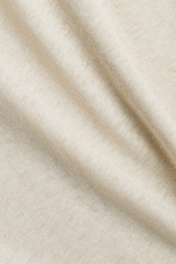 Con lino: t-shirt basic, LIGHT BEIGE, detail image number 4