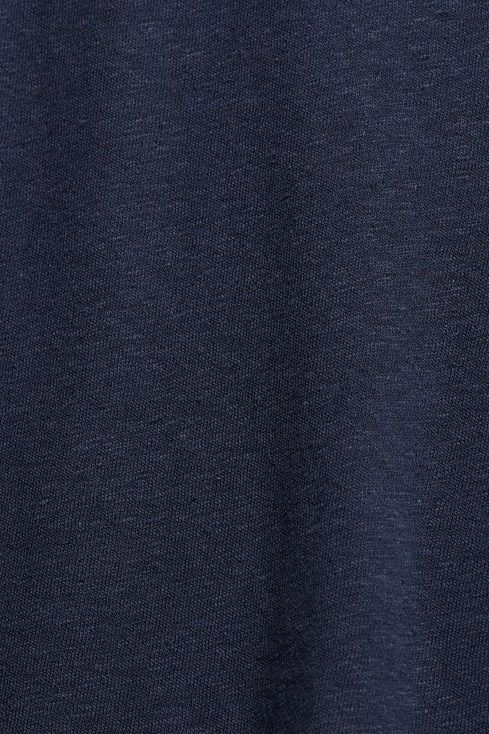 Linen blend: basic T-shirt, NAVY, detail image number 4