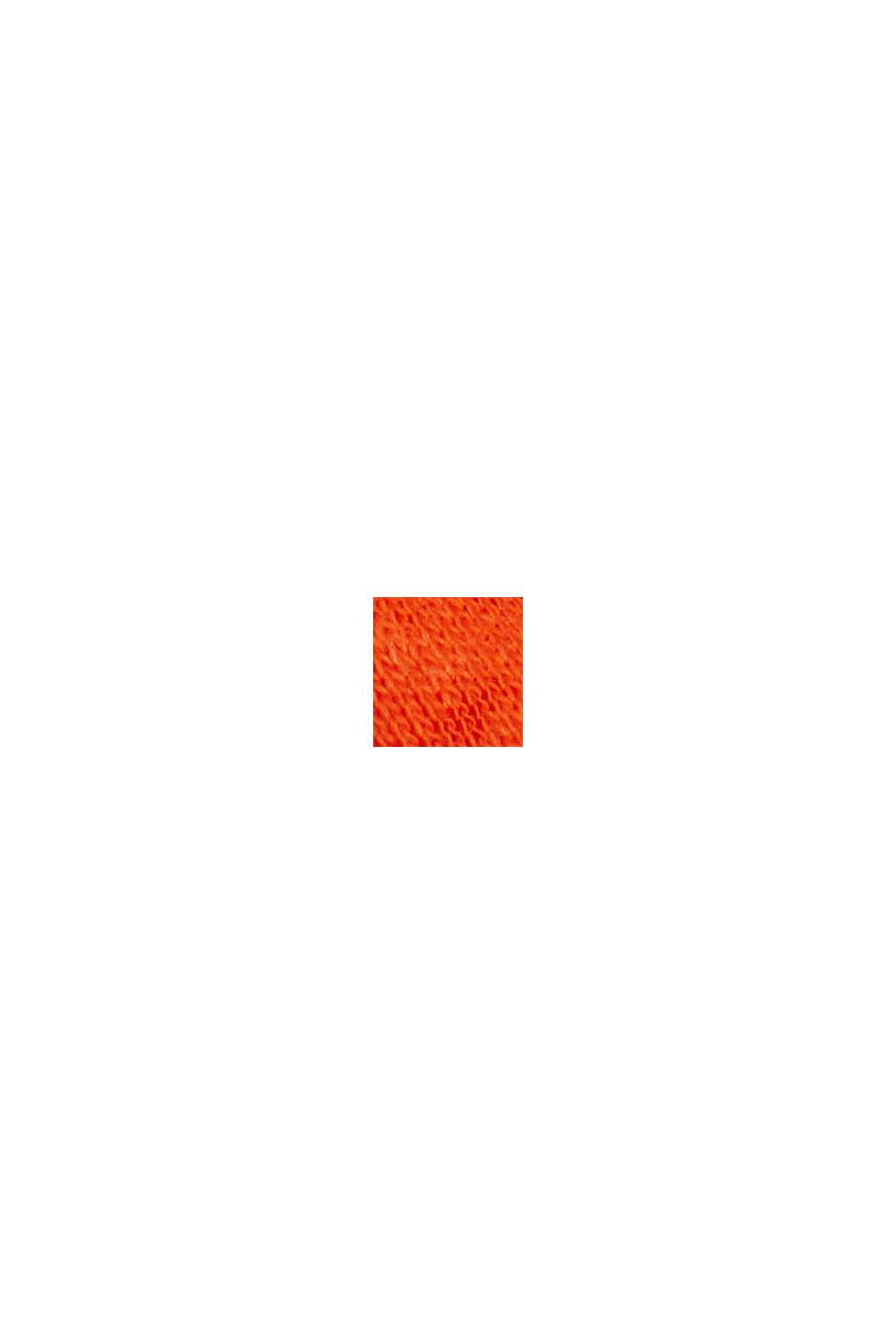 Linen blend: basic T-shirt, ORANGE RED, swatch