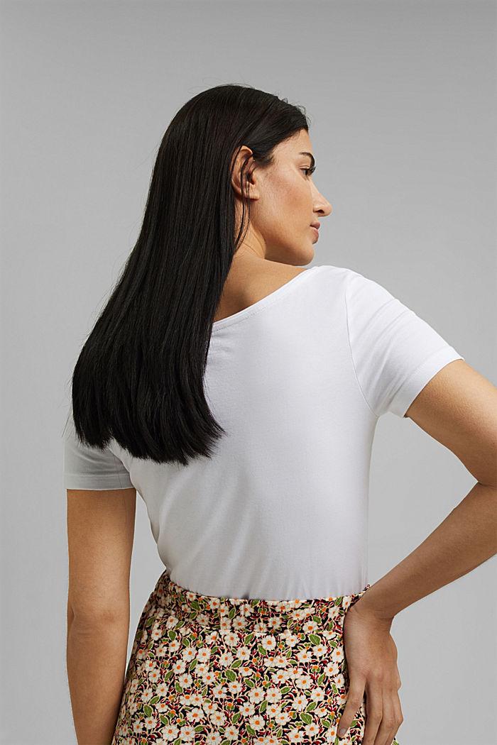 Basic T-shirt in organic cotton, WHITE, detail image number 3