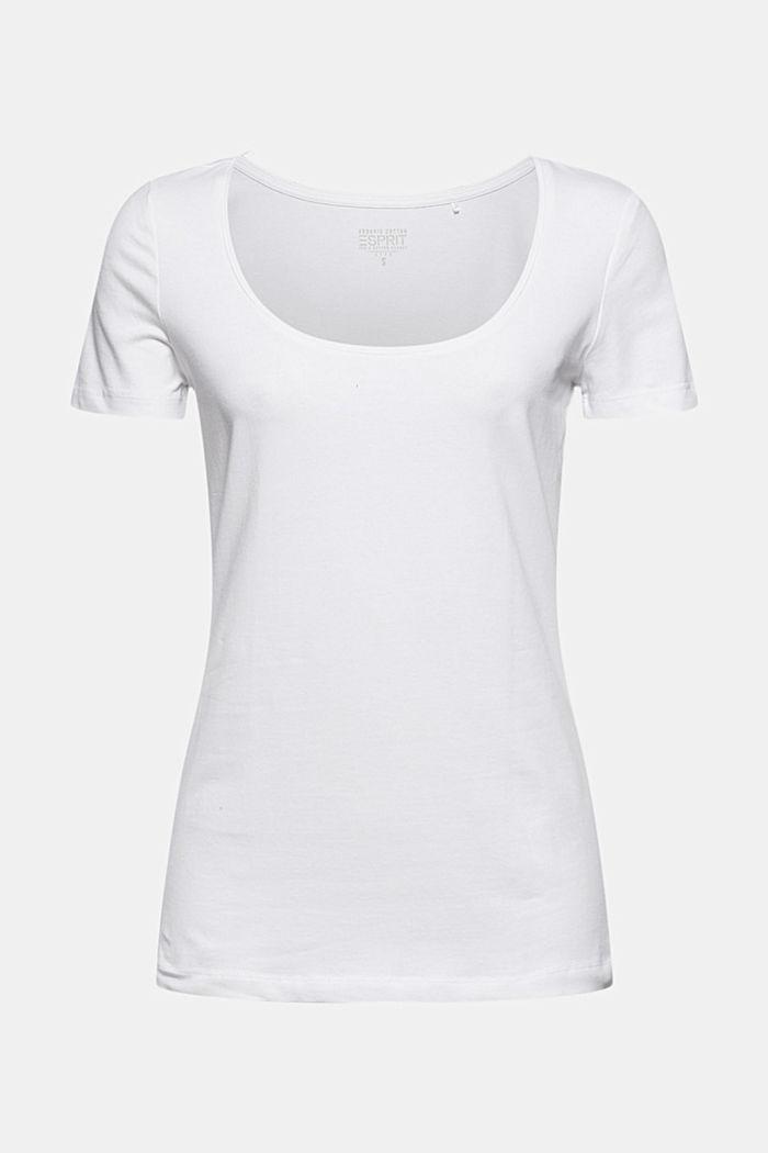 Basic T-shirt in organic cotton, WHITE, detail image number 5