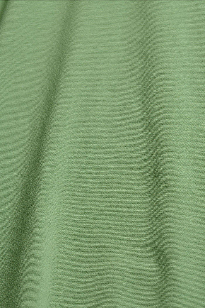 Basic T-shirt in organic cotton, LEAF GREEN, detail image number 4