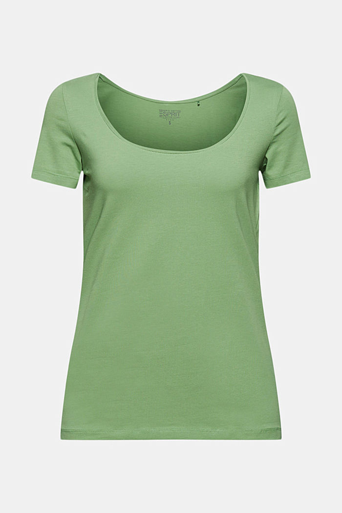 Basic T-shirt in organic cotton, LEAF GREEN, detail image number 6