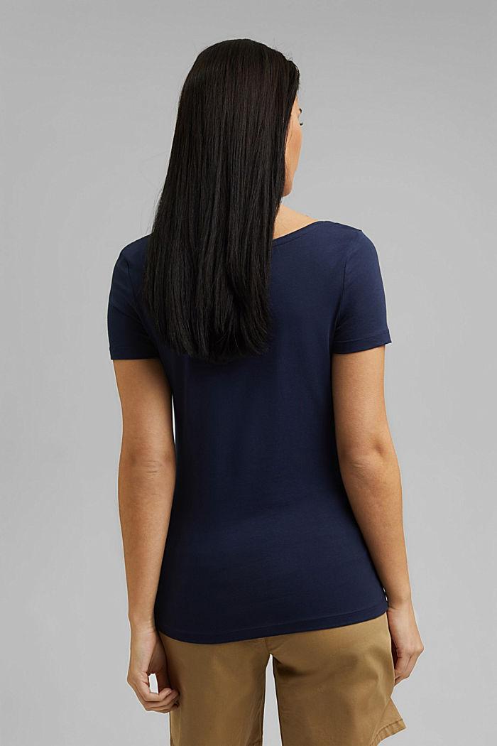 Basic T-shirt in organic cotton, NAVY, detail image number 3