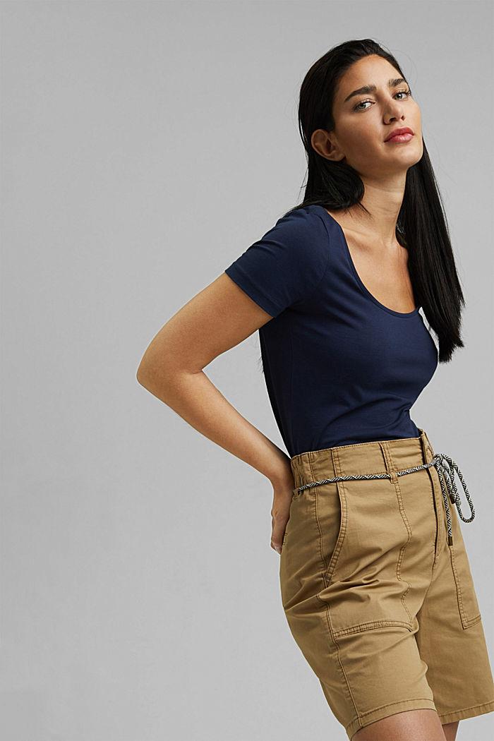 Basic T-shirt in organic cotton, NAVY, detail image number 5
