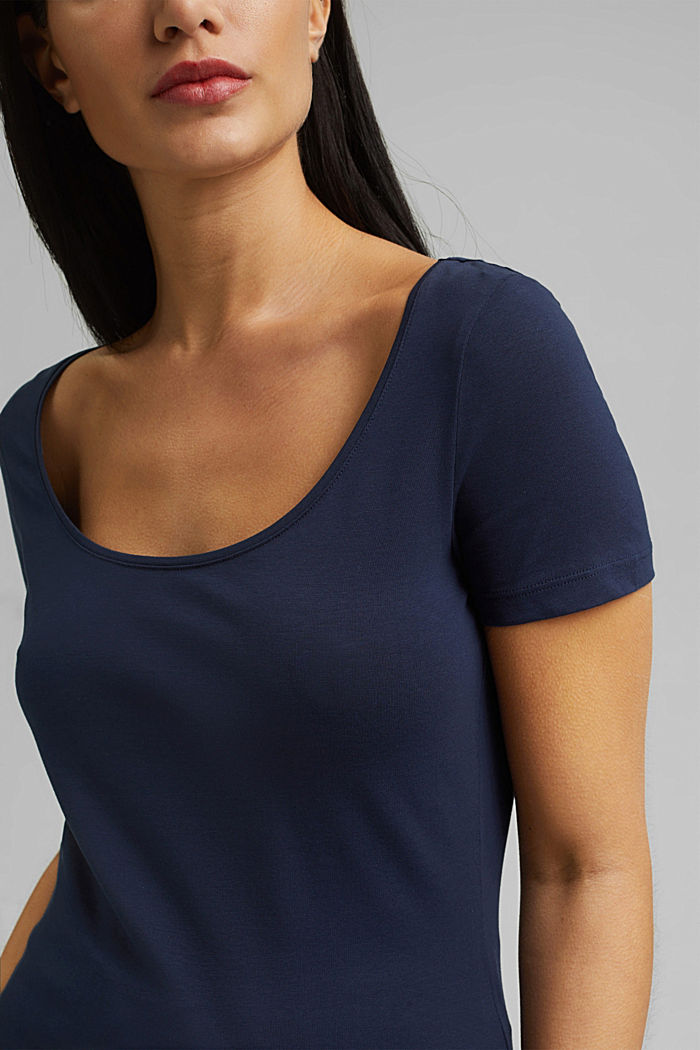 Basic T-shirt in organic cotton, NAVY, detail image number 2