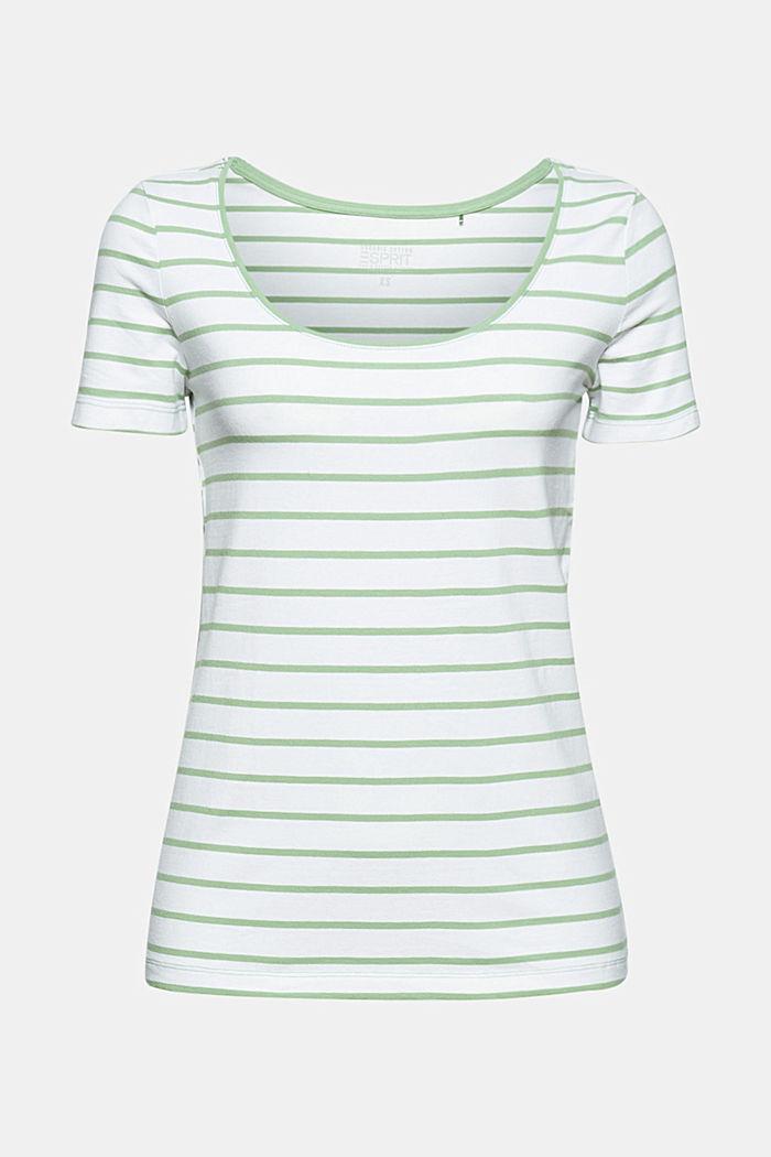 Gestreiftes T-Shirt aus Bio-Baumwolle/Stretch