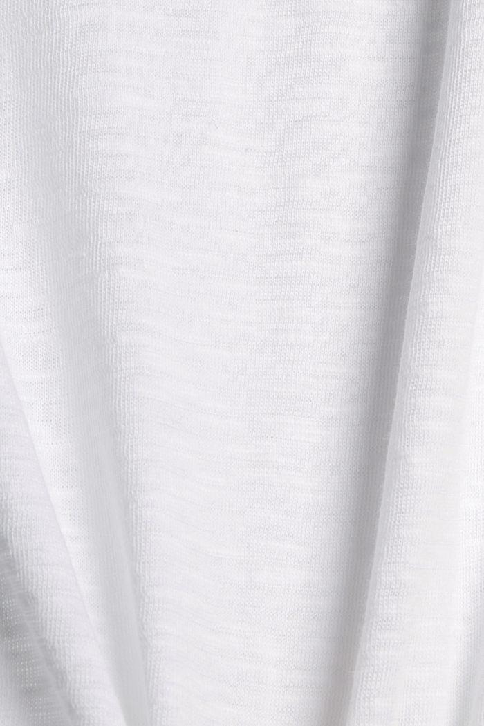 Tanktop met biologisch katoen, WHITE, detail image number 4
