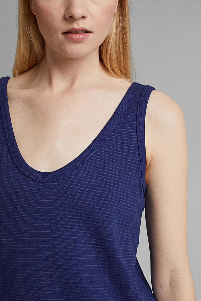 Blended organic cotton vest, DARK BLUE, detail image number 2