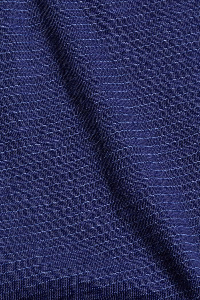 Blended organic cotton vest, DARK BLUE, detail image number 4
