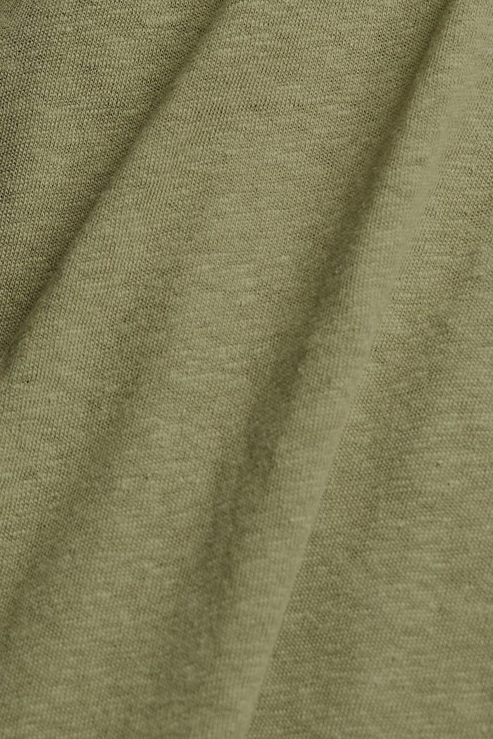 Sleeveless T-shirt made of a cotton/linen, LIGHT KHAKI, detail image number 4